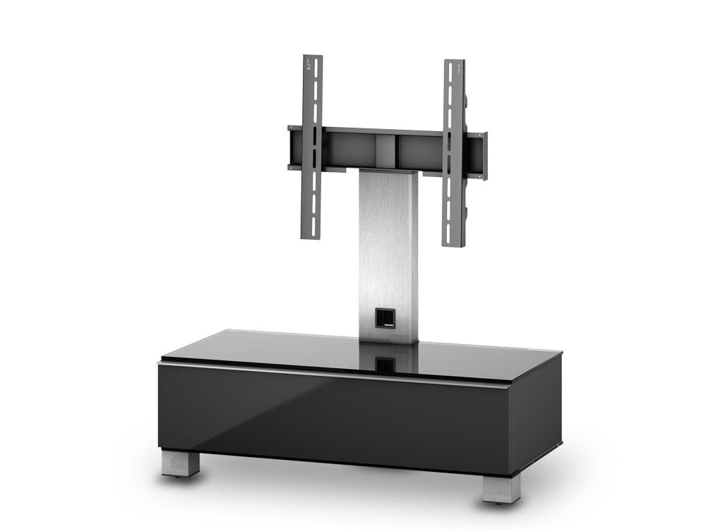 meuble tv sonorous md8095 c inx blk verre claire noir. Black Bedroom Furniture Sets. Home Design Ideas