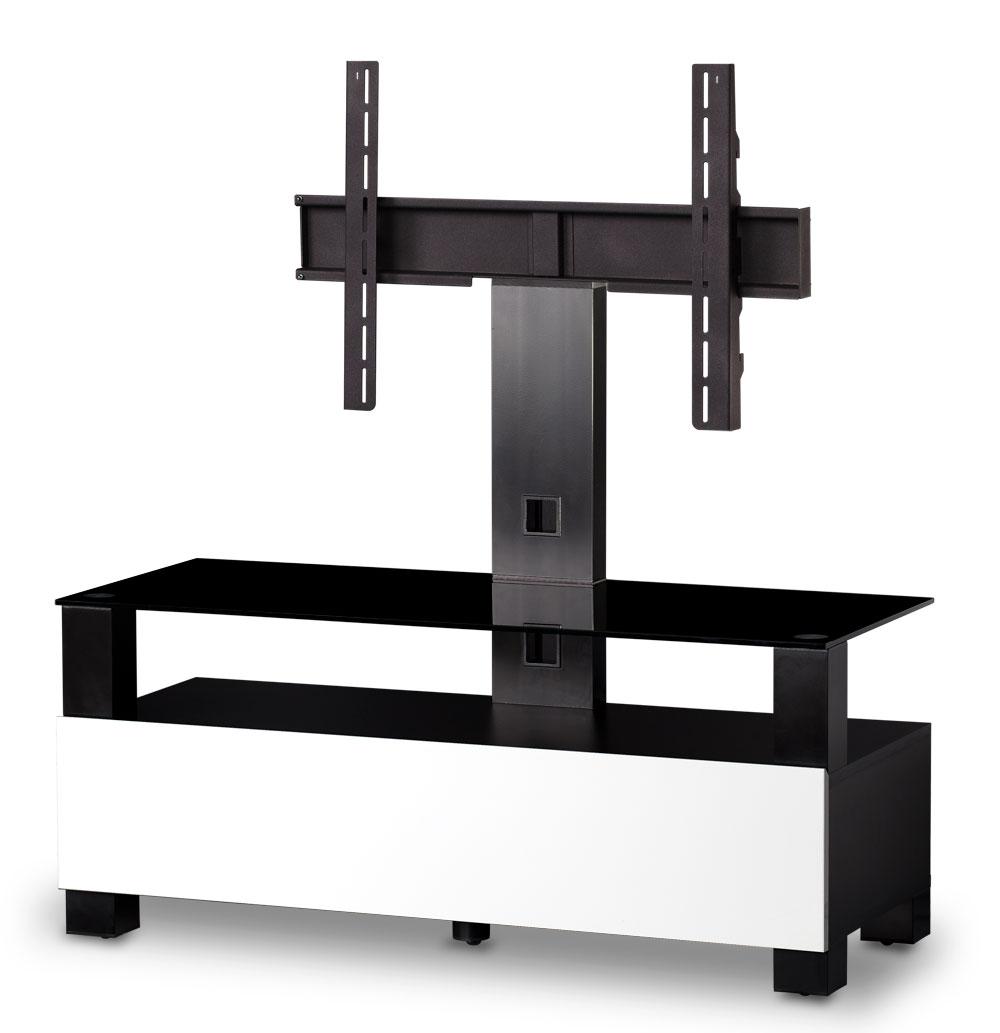 meuble tv sonorous tr1113 wht noir et blanc online shop pour hifi tv lowboard support mural. Black Bedroom Furniture Sets. Home Design Ideas