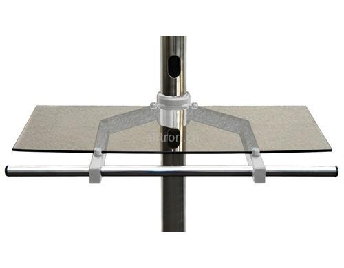 tv m bel tv rollwagen tablar edbak glas mit metalgriff zu tr4 silber transparent tv. Black Bedroom Furniture Sets. Home Design Ideas