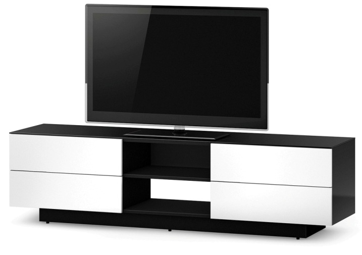Sonorous tv lowboard smyrna lba1840 gwht meuble tv hifi for Meubles suisse online