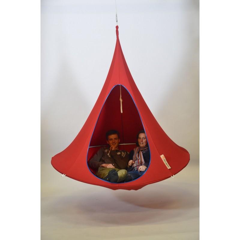 hamac cacoon double pour 2 personnes hamac suspendu cacoon double pour 2 personnes vert. Black Bedroom Furniture Sets. Home Design Ideas