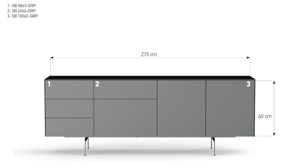 kommode sonorous elements sideboard kombination sb k15 b 215cm h 80cm sideboard schweiz. Black Bedroom Furniture Sets. Home Design Ideas