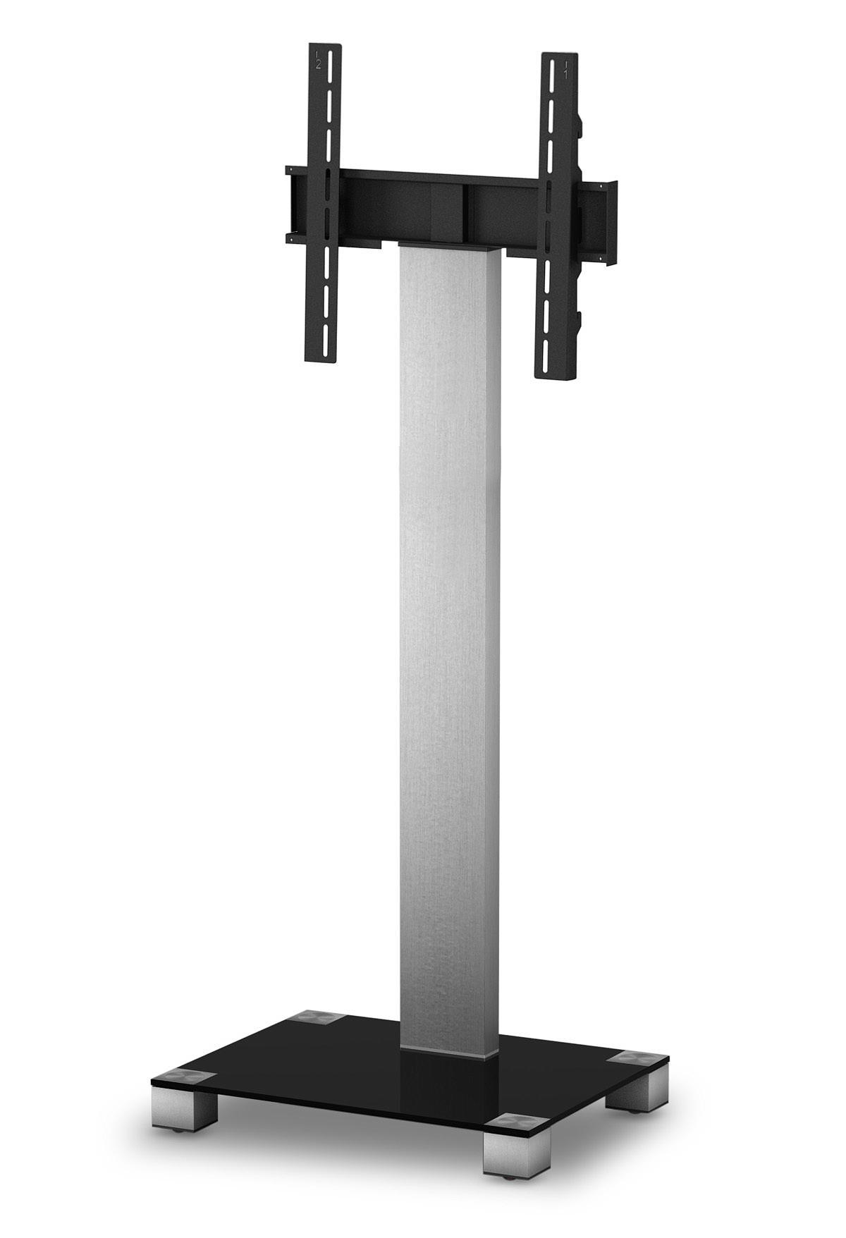 sonorous meuble tv pr2550 b inx verre noir et inox online shop pour hifi tv lowboard support. Black Bedroom Furniture Sets. Home Design Ideas